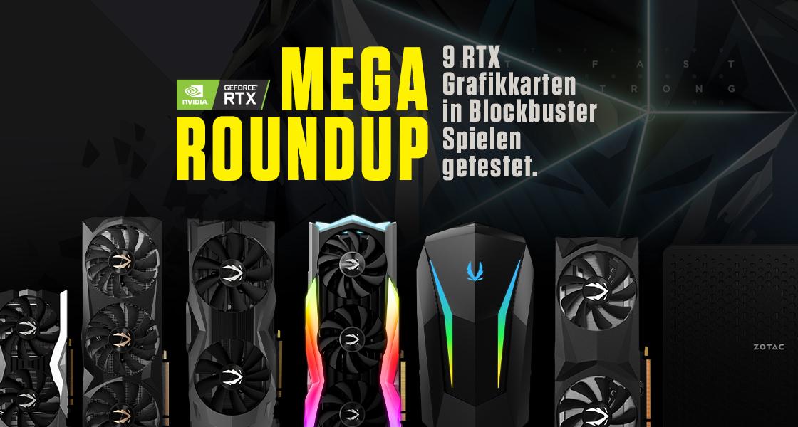 Mega-Roundup: ZOTAC GAMING GPUs & PCs im Test