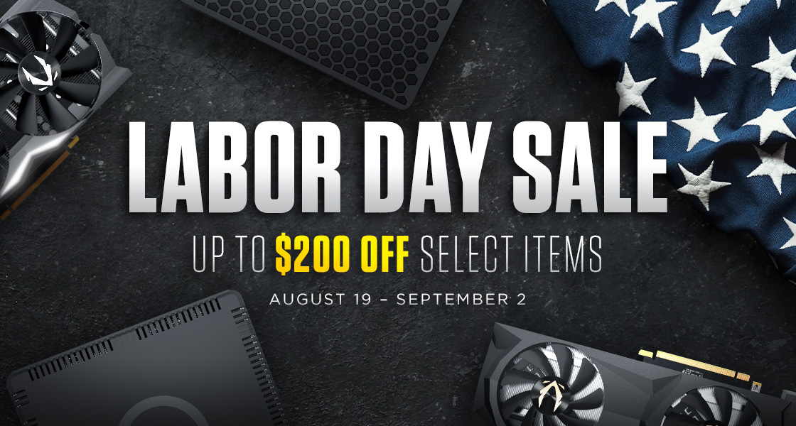 The ZOTAC STORE Labor Day Sale