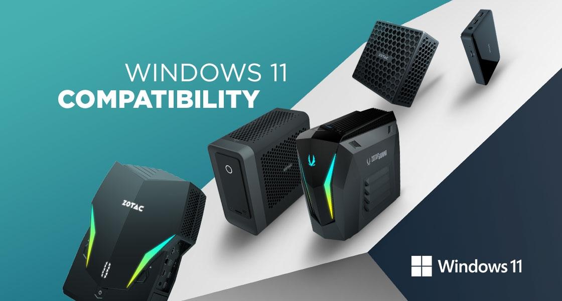 ZOTAC PCS AND WINDOWS 11 COMPATIBILITY