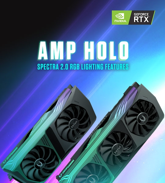 AMP Holo SPECTRA 2.0 RGB Lighting Features