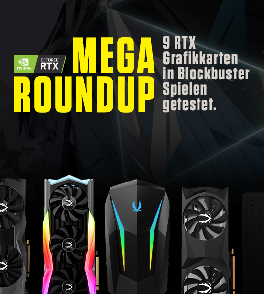 Mega-Roundup: ZOTAC GAMING GPUs & PCs im Test