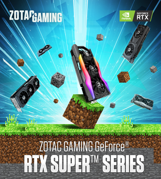 RTX Minecraft with ZOTAC GAMING VGA cards