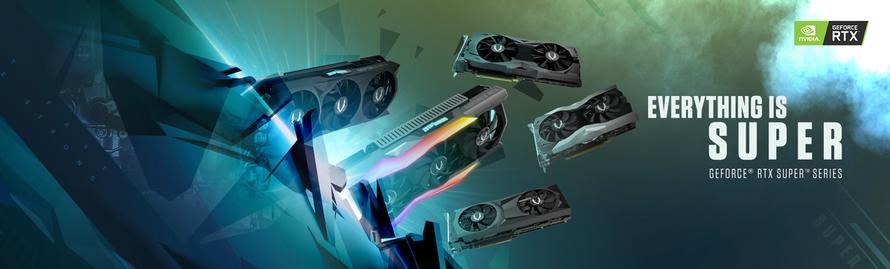 TODO ES SÚPER CON LA NUEVA GEFORCE® RTX 20 SERIES SUPER™ DE ZOTAC GAMING