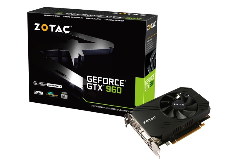 GeForce® GTX 960 Single Fan 2GB