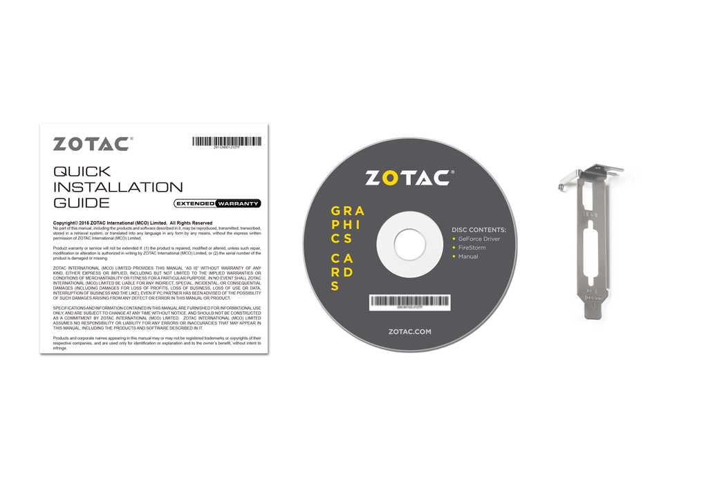 ZOTAC GeForce® GT 1030 Zone Edition