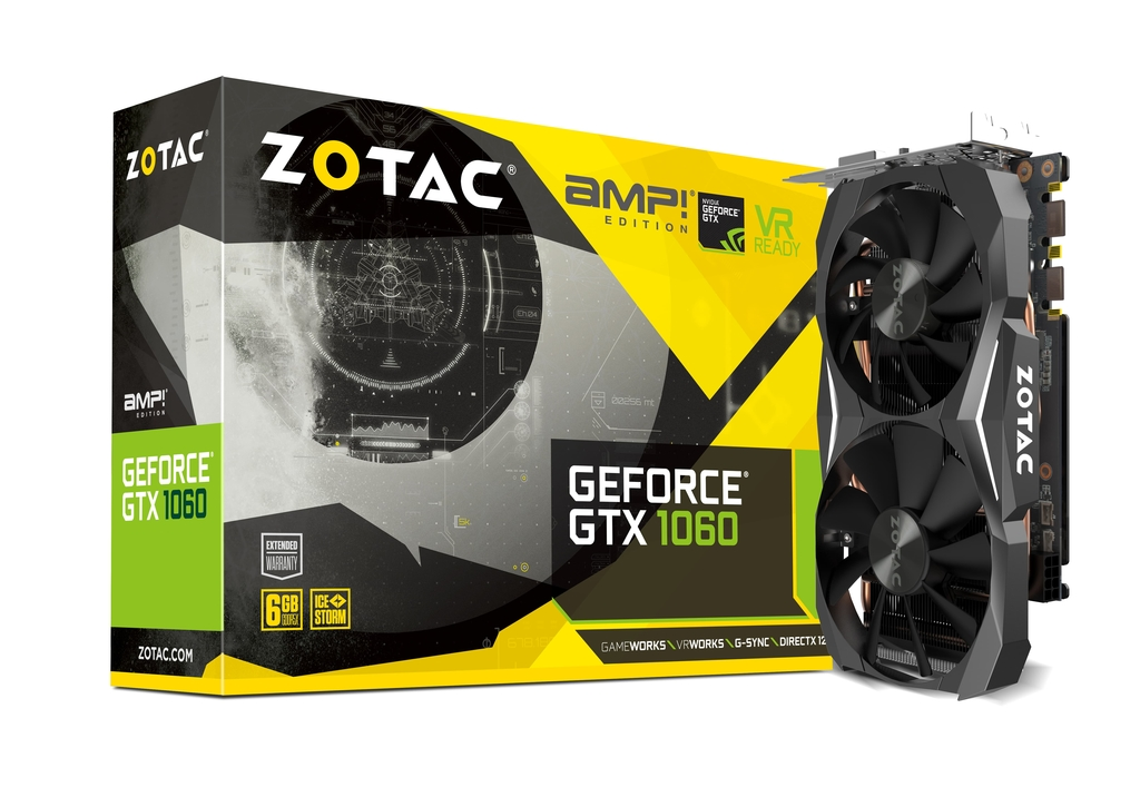 ZOTAC GeForce GTX 1060 AMP Edition 6GB GDDR5X