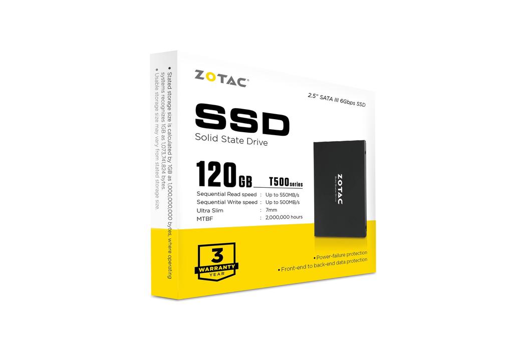 ZOTAC T500 120GB SSD